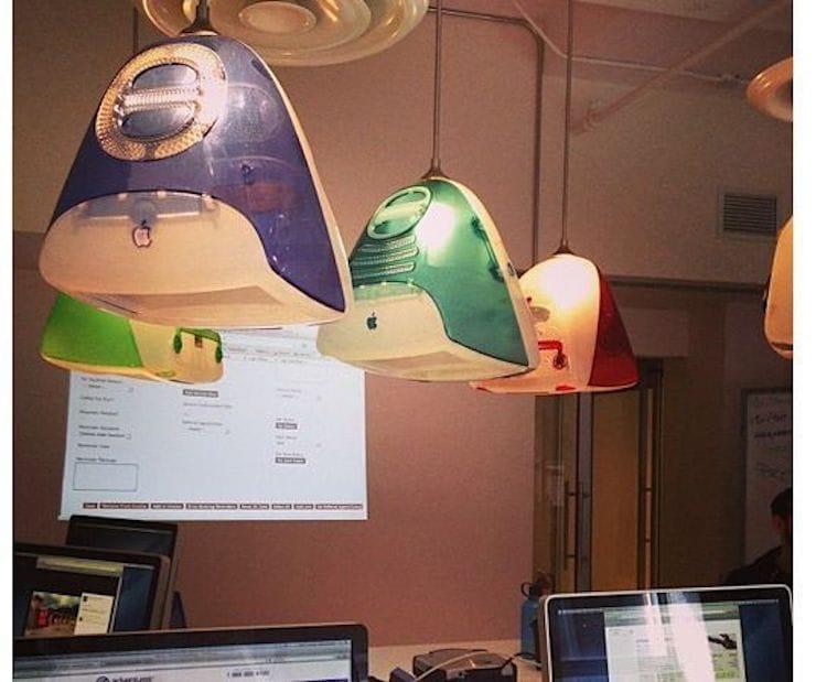 Светильник из старого iMac