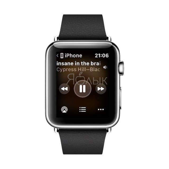 Как отключить появление плеера на Apple Watch при включении музыки на iPhone
