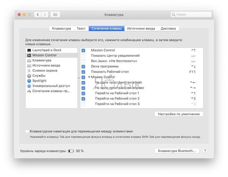 Возможность назначения комбинации «горячих» клавиш для каждого приложения