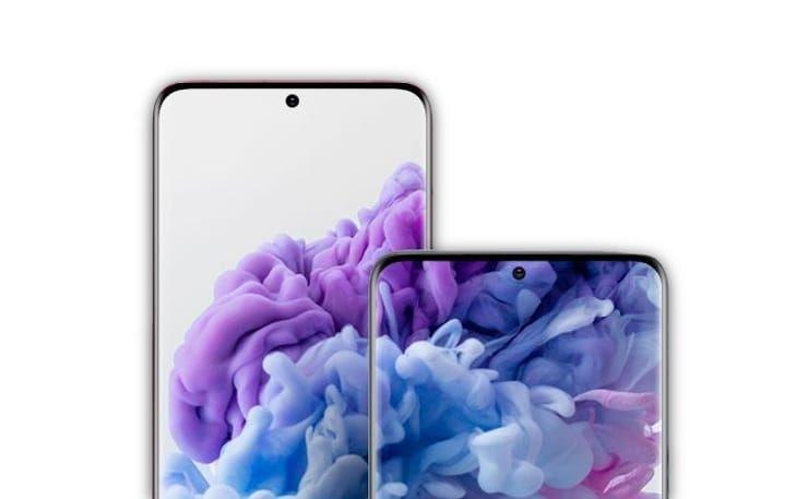 Дисплеи Samsung Galaxy S20 и S20+