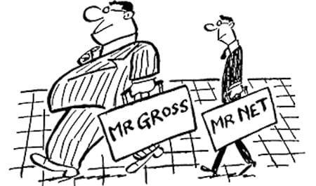 Зарплаты брутто и нетто (Gross и Net)