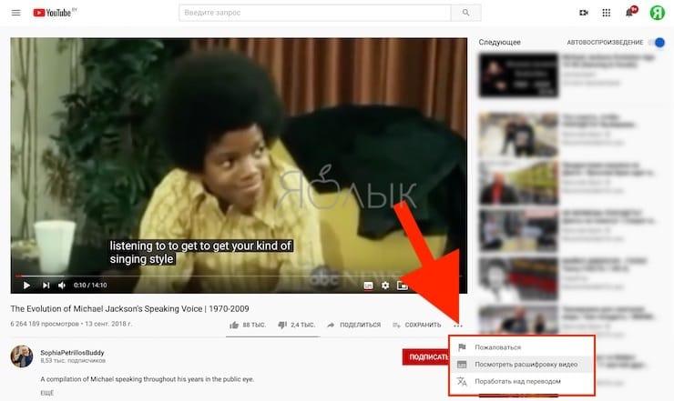 Как сохранить субтитры с YouTube в виде текста при помощи встроенных инструментов