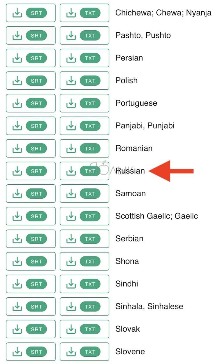 Как сохранить субтитры с YouTube,Vimeo, Facebook или Вконтакте в виде текста