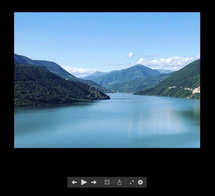 Слайд-шоу в Finder на macOS