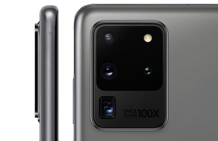 Дизайн Samsung Galaxy S20 Ultra