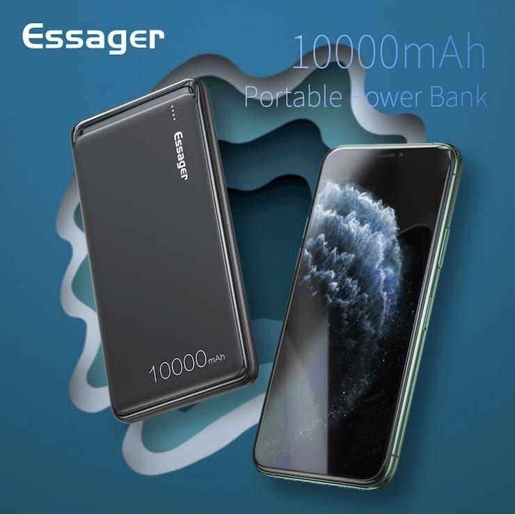 Внешний аккумулятор Essager 10 000 мАч