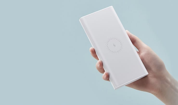 Внешний аккумулятор с беспроводной зарядкой Xiaomi 10 000 мАч