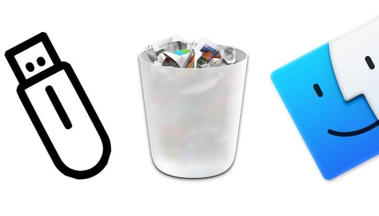 Как правильно на Mac удалять файлы с USB-флешки или внешнего жесткого диска