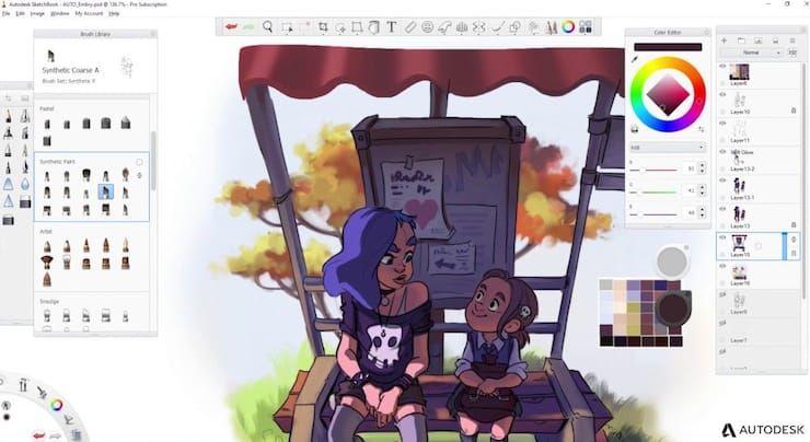 Как открыть файл в формате PSD без Фотошопа в autodesk sketchbook