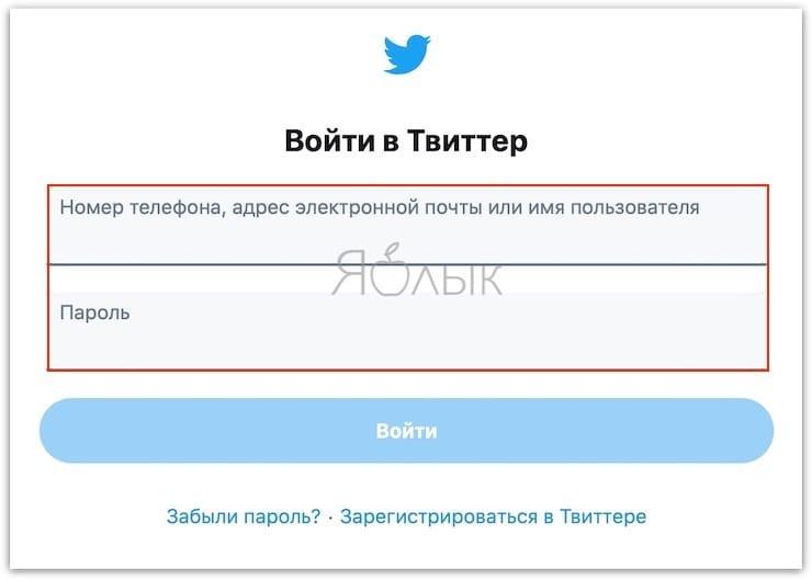 Как в Twitter изменить имя пользователя (логин) и отображаемое имя