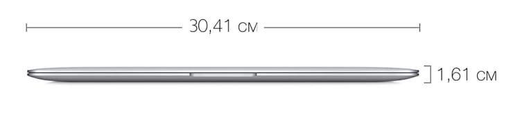 Размеры MacBook Air