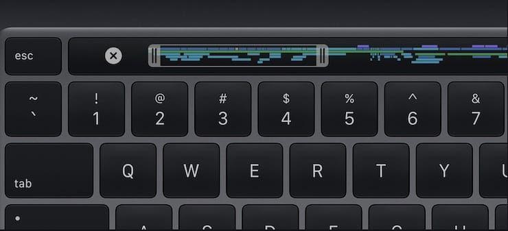 TouchBar in MacBook Pro 2020