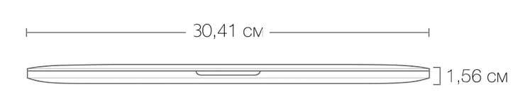 Размеры MacBook Pro