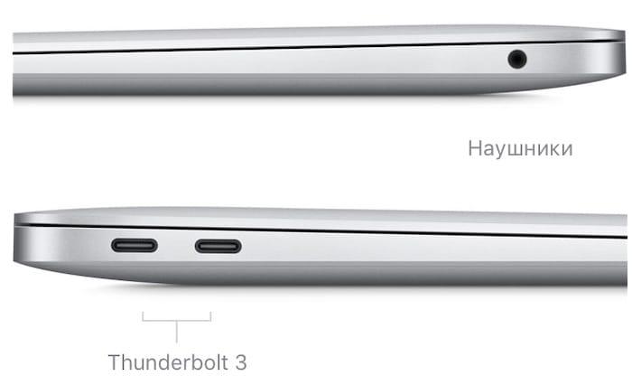 Порты MacBook Air 2020