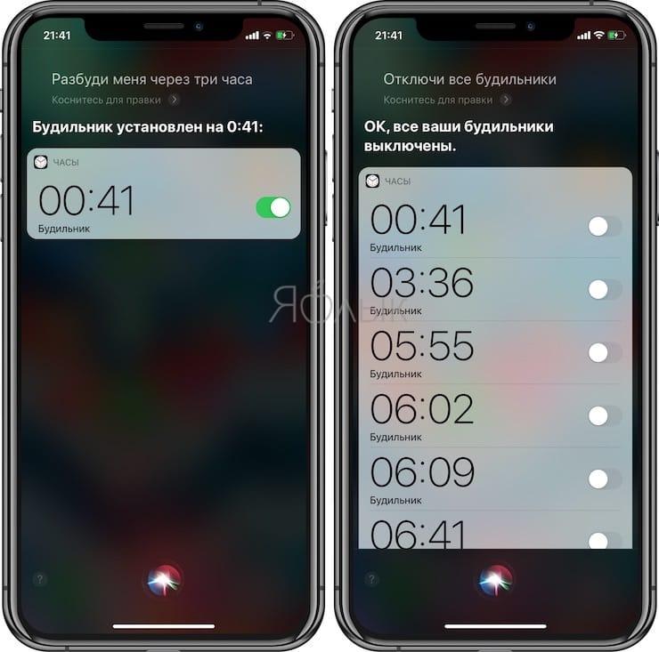 Полезные команды Siri для iPhone на русском языке: настройка будильников