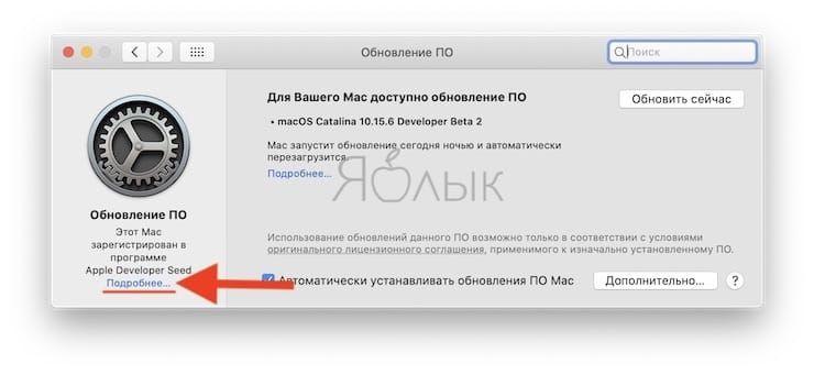 Как отказаться от обновлений бета-версий macOS