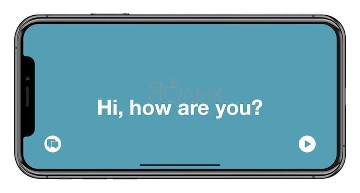 Режим внимания в приложении Перевод на iPhone