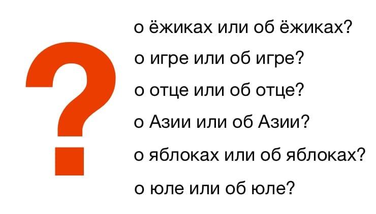 В каких случаях нужно писать «о» или «об» перед словами («о его» и «об его»)?