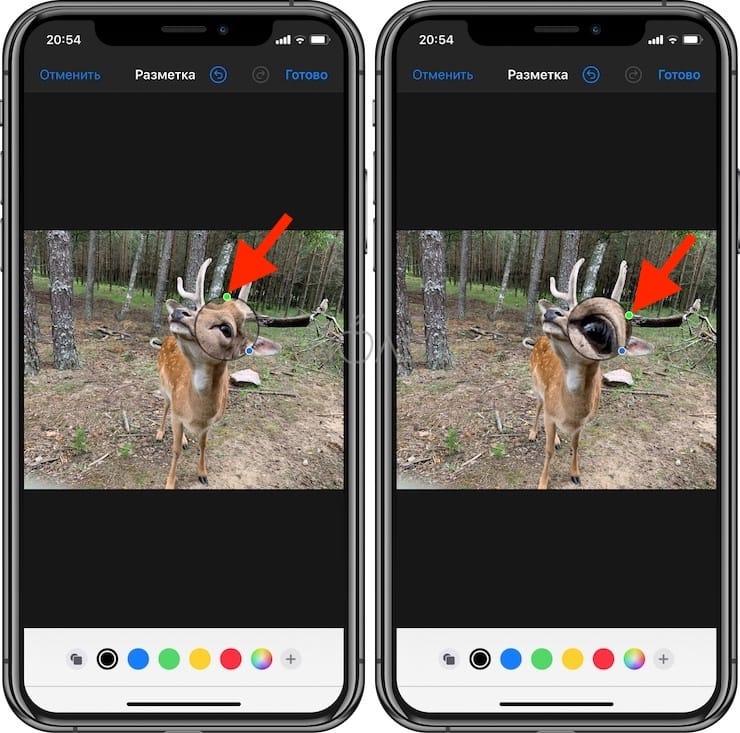 Как увеличить какой-либо фрагмент на фотографии в iPhone и iPad