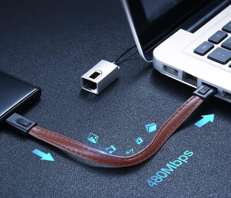 Карманные короткие Lightning-кабели для iPhone и iPad