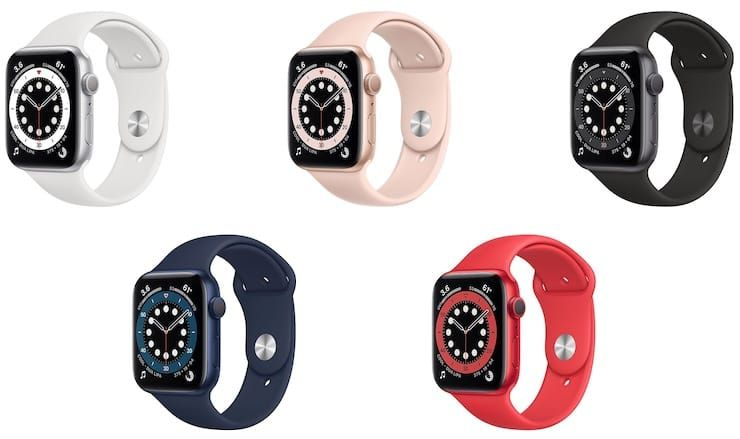 Цвета Apple Watch Series 6