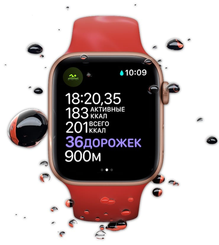 Защита от воды в Apple Watch Series 6