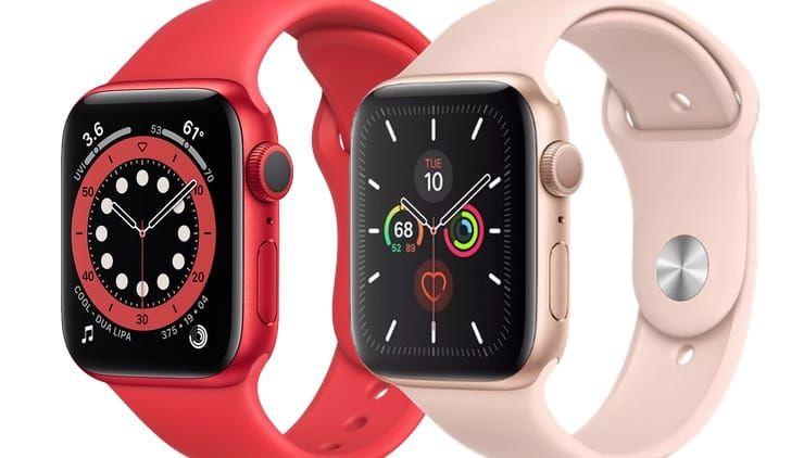 Сравнение Apple Watch Series 5 и Apple Watch Series 6