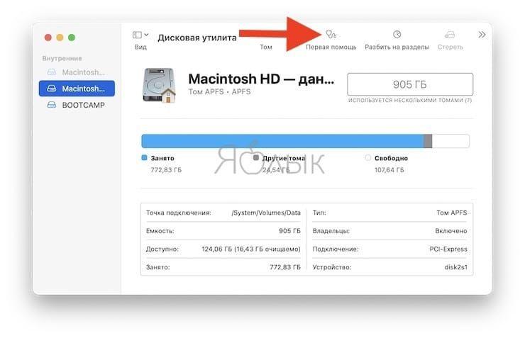 Дисковая утилита macOS