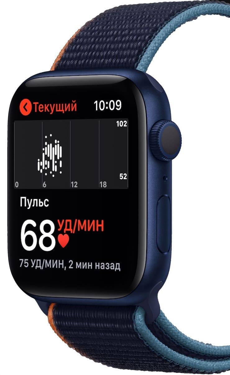 Измерение пульса на Apple Watch