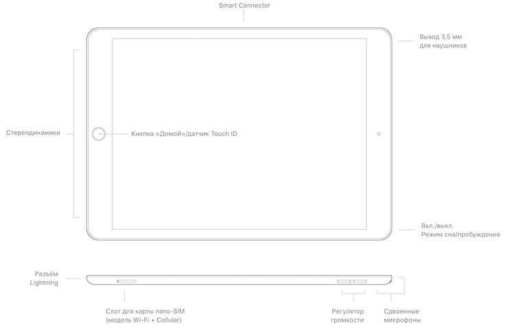 Интерфейсы iPad 8 2020 года