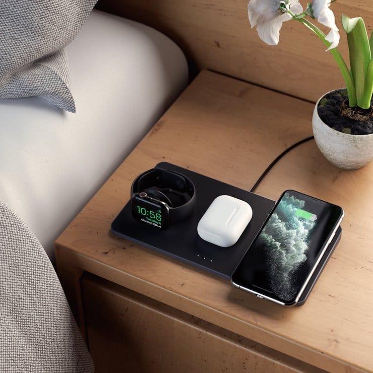 Satechi Trio Wireless Charging Pad – беспроводная зарядная станция