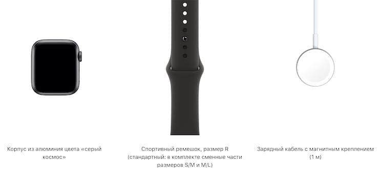 Комплект поставки Apple Watch SE