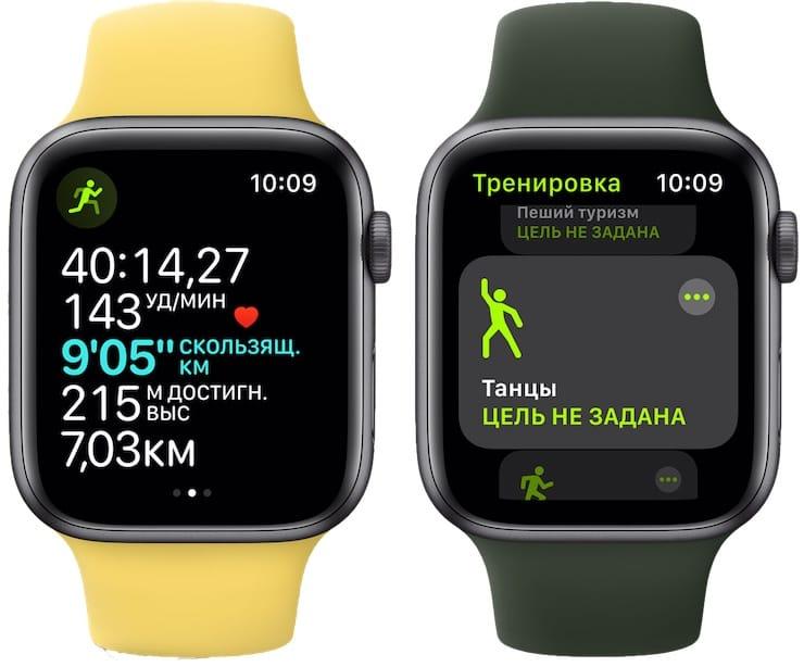 Тренировки на Apple Watch