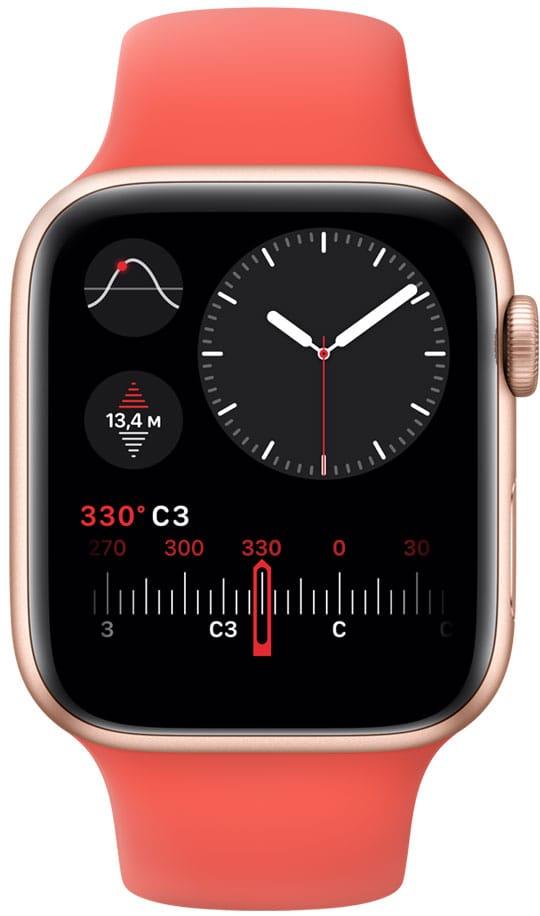Высотометр в Apple Watch