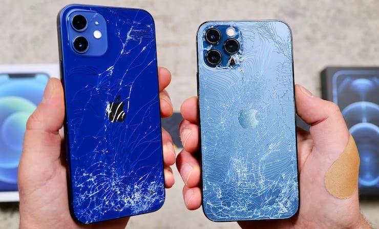 Легко или царапается и разбивается стекло в iPhone 12 / 12 Pro: видео тесты