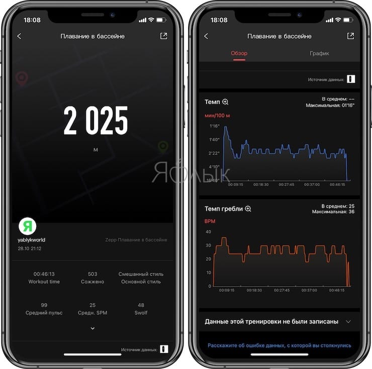 Zepp app for working with Amazfit Band 5