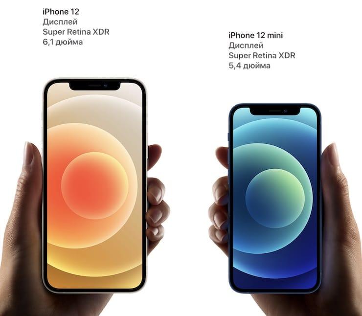 Дисплей iPhone 12 и iPhone 12 mini