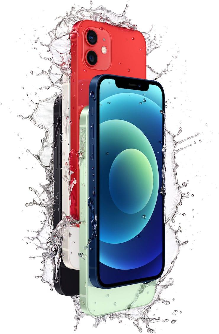 Водопроницаемость iPhone 12 и iPhone 12 mini