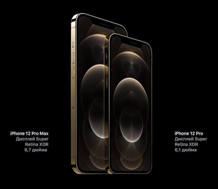 Дисплей iPhone 12 Pro и iPhone 12 Pro Max
