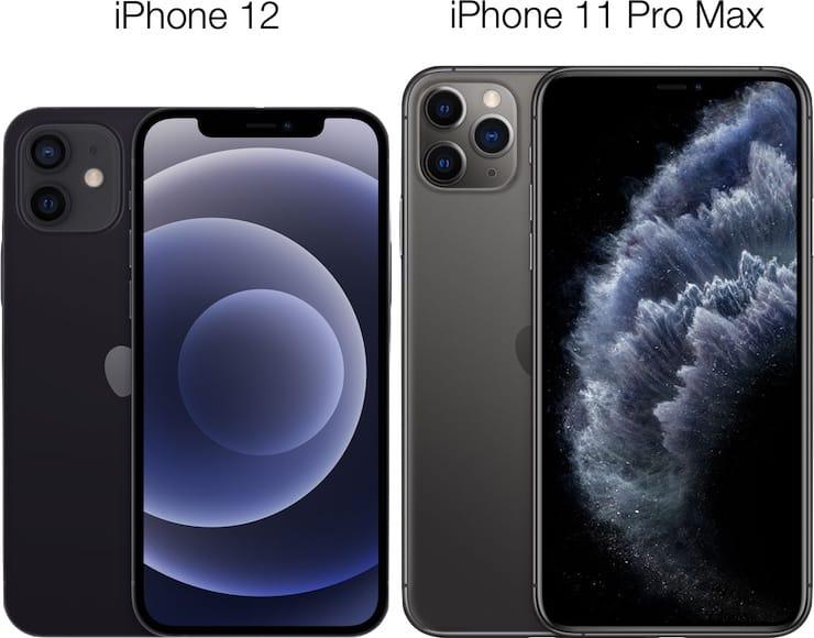 Дизайн и габаритные размеры iPhone 12 иiPhone 11 Pro Max