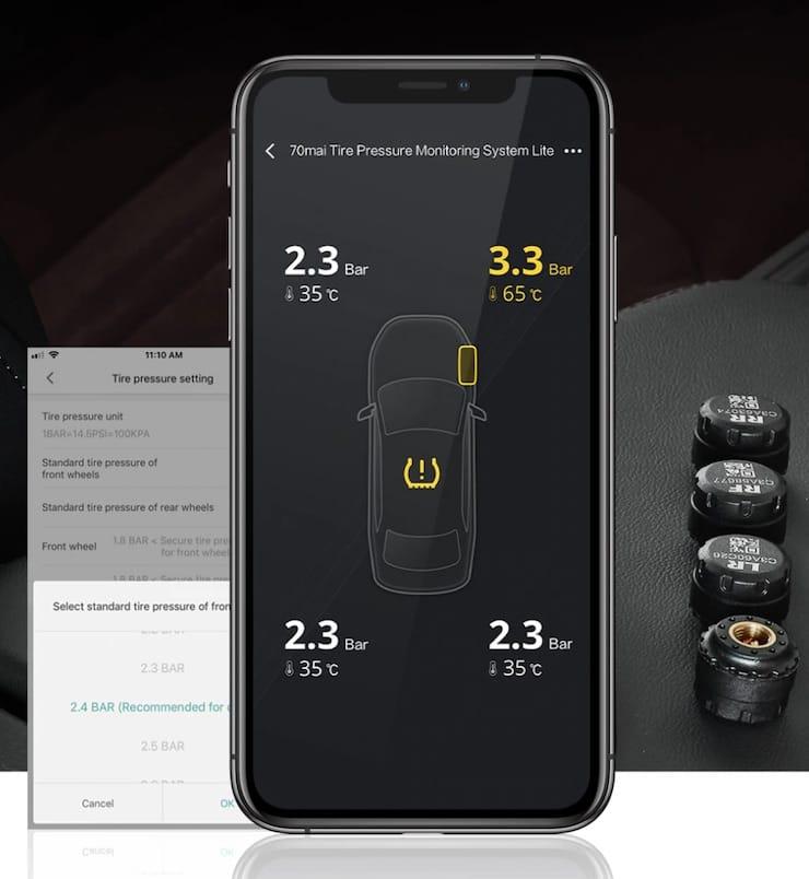 Система контроля давления в шинах Xiaomi 70Mai TPMS