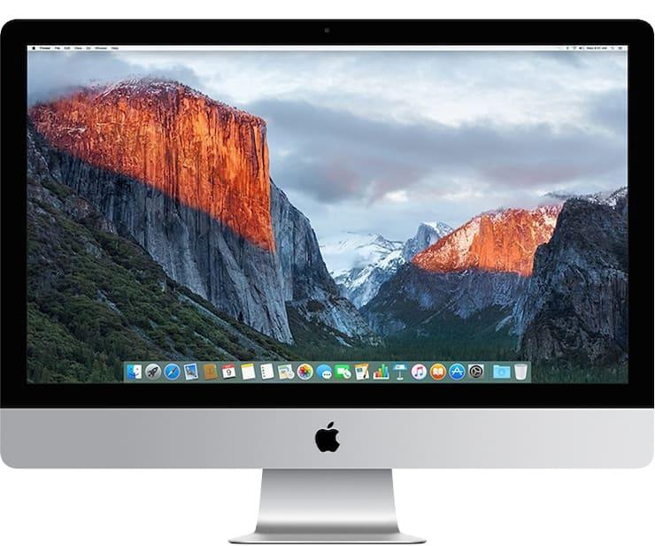 iMac (с дисплеем Retina 5K, 27 дюймов, конец 2015 г.)