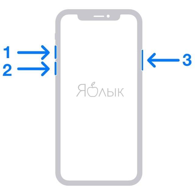 iPhone или iPad завис, не включается и не реагирует на кнопки (может бытьчерный экран)