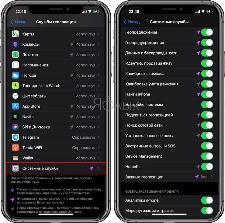 Настройки геолокации в iPhone: на что влияют и какие можно выключить для сохранения заряда батареи?