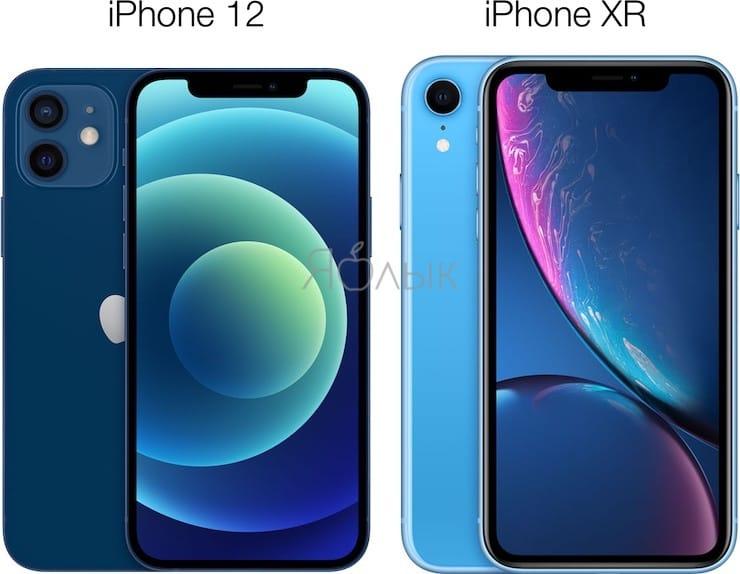 Сравнение размеров iPhone 12 и iPhone XR