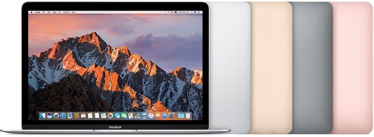 MacBook (с дисплеем Retina, 12 дюймов, начало 2016 г.)