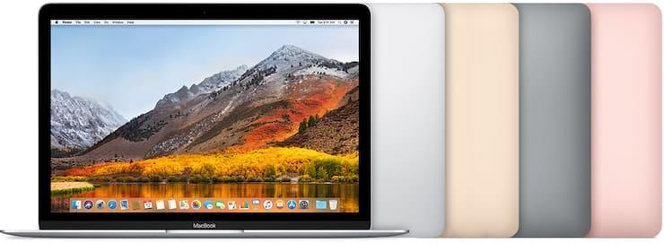 MacBook (с дисплеем Retina, 12 дюймов, 2017 г.)