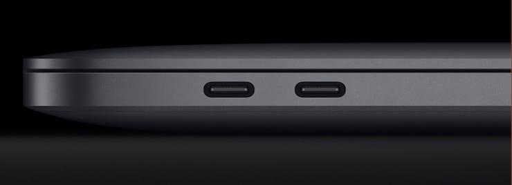 Порты USB-С в MacBook Pro