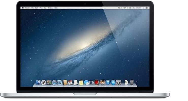 MacBook Pro (с дисплеем Retina, 15 дюймов, начало 2013 г.)