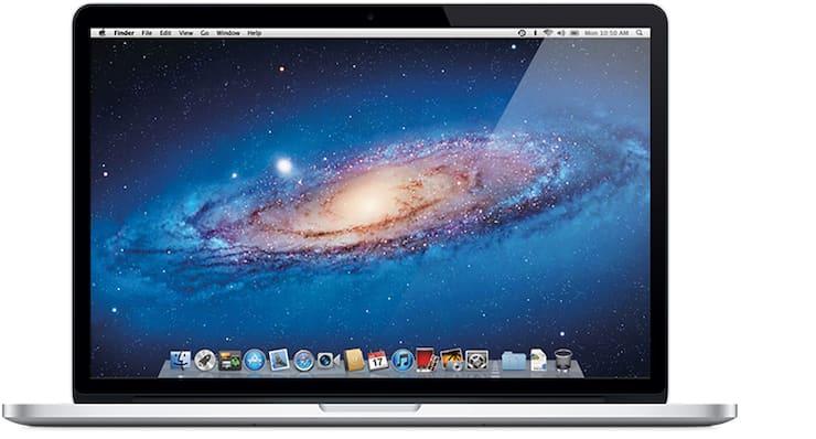 MacBook Pro (с дисплеем Retina, 15 дюймов, середина 2012 г.)